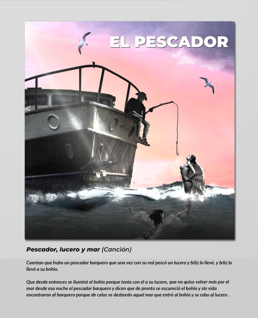 Pescador, lucero y mar ( Composición digital) 0