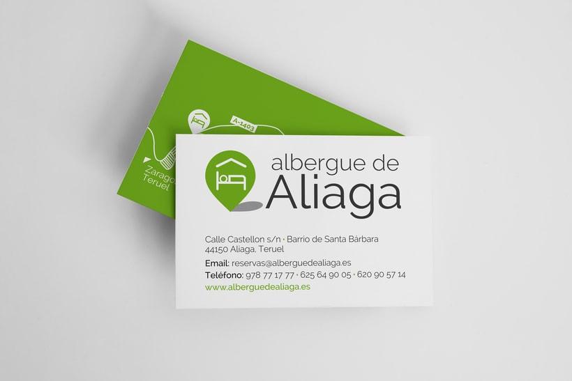 Diseño identidad corporativa para Albergue de Aliaga 2