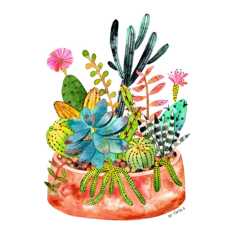 Ilustraciones botánicas en acuarela 3