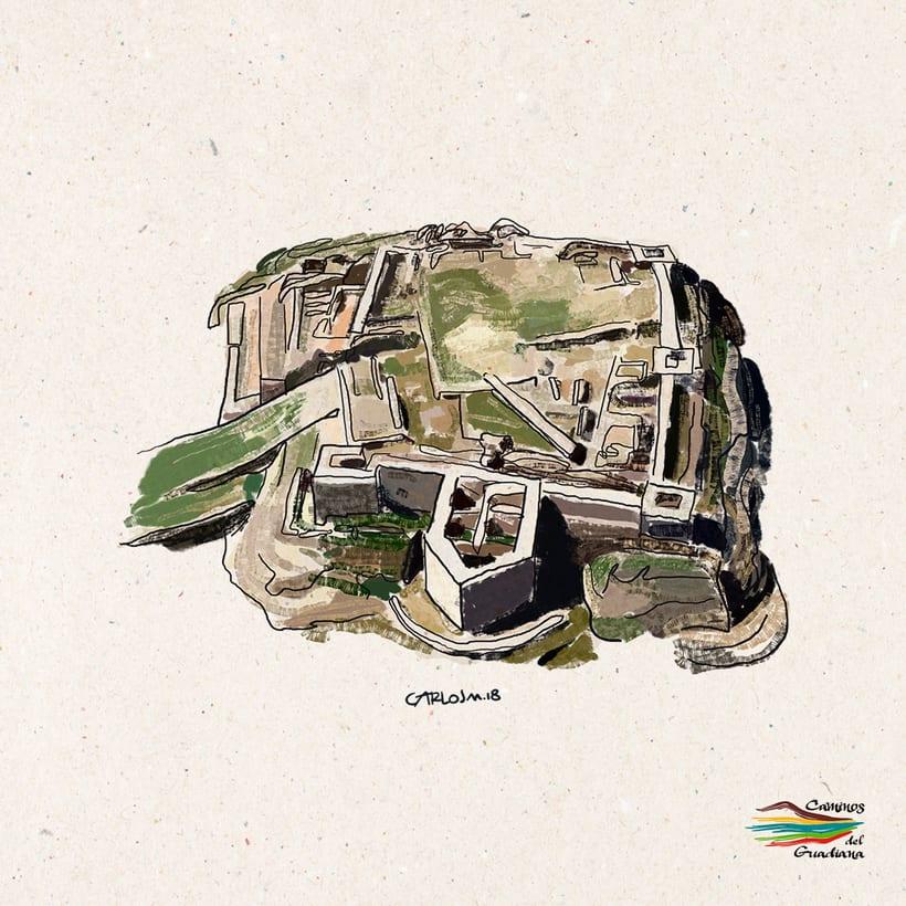 Mapa Caminos del Guadiana 14