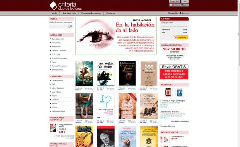 Rediseño de tienda virtual Criteria Club de Lectores 1