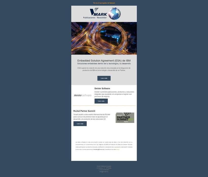 Rediseño web Vmark.es (Premier Business Partner IBM) 1