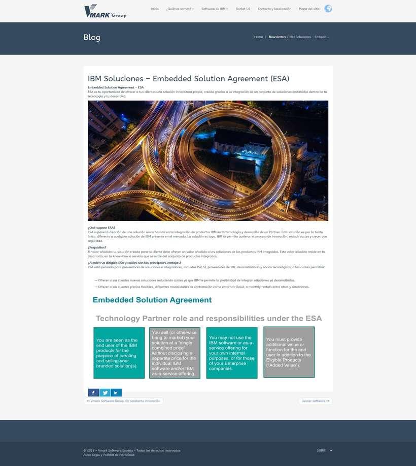 Rediseño web Vmark.es (Premier Business Partner IBM) 2