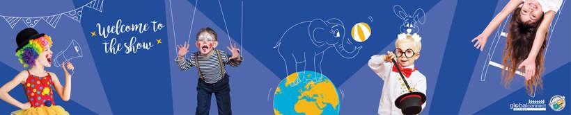 Ilustración y montaje del diseño para rótulo de Global Connect 1