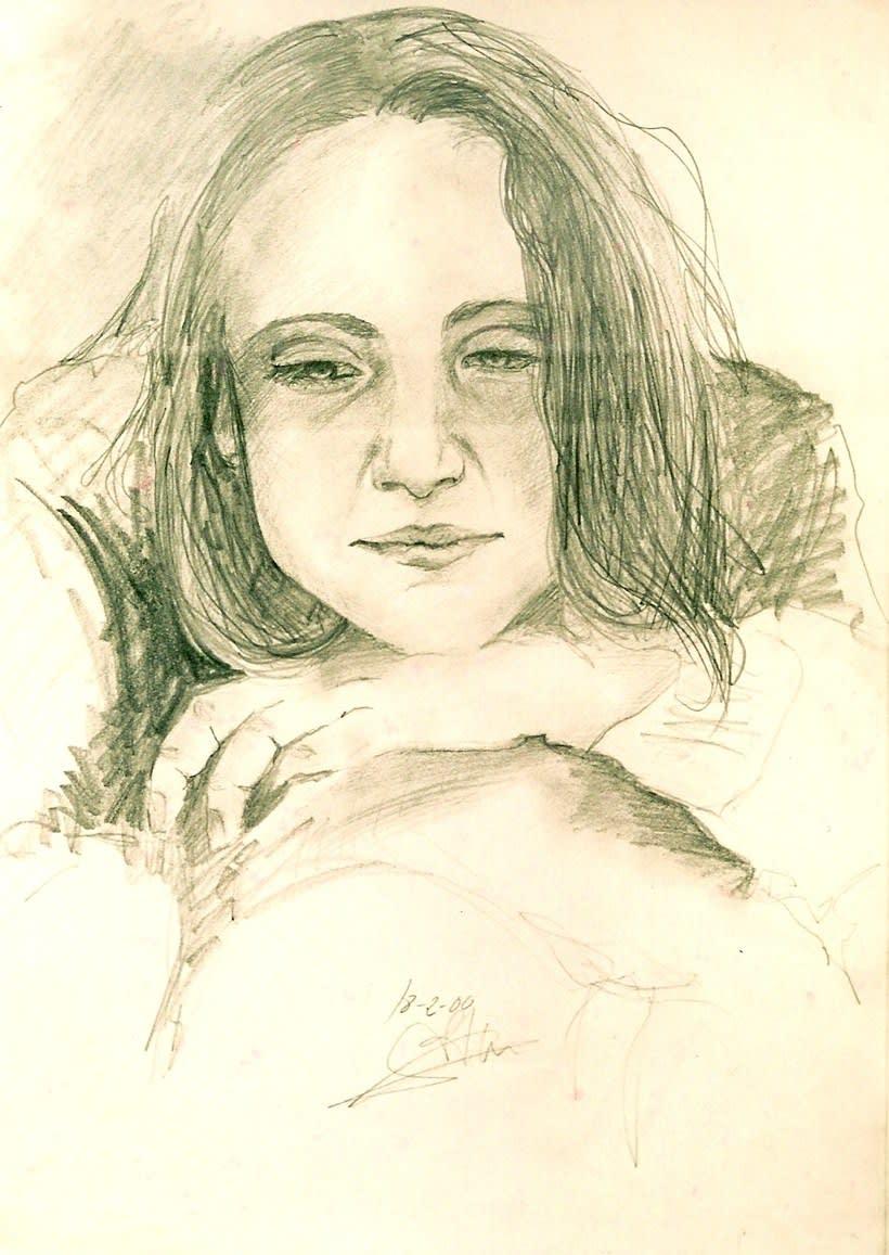 Retratos por encargo a pastel,acuarela,carboncillo,grafito... 3