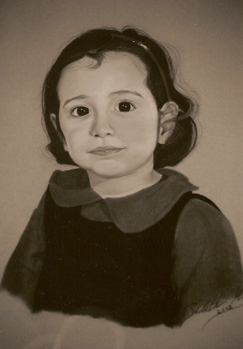 Retratos por encargo a pastel,acuarela,carboncillo,grafito... 10