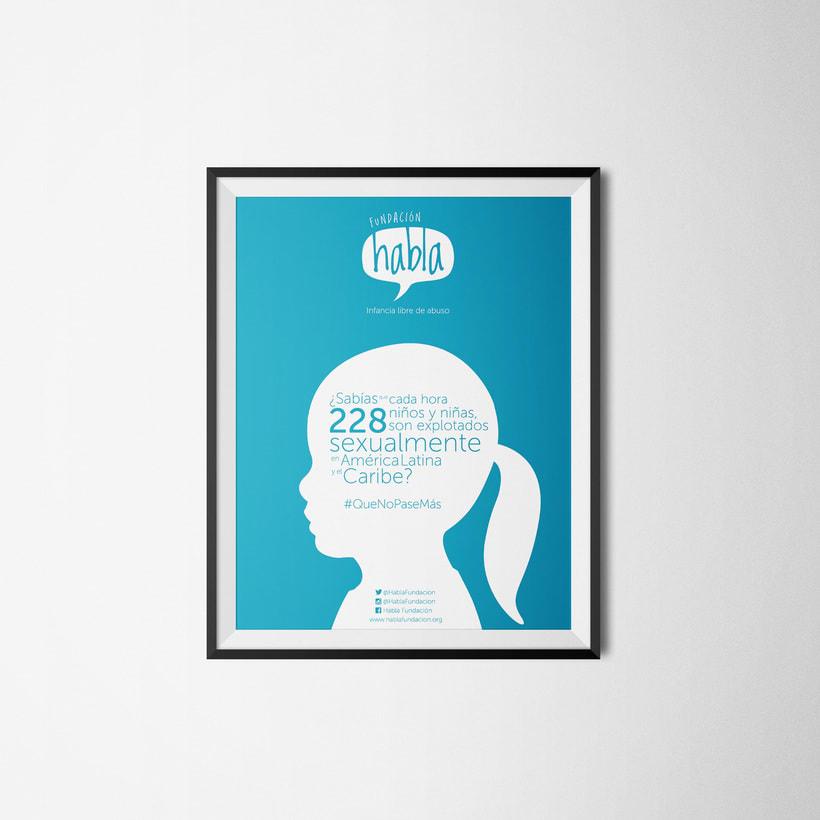 Piezas, Logo+afiche+imagen gráfica Fundación Habla -1