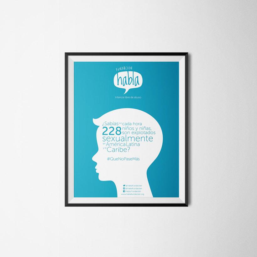 Piezas, Logo+afiche+imagen gráfica Fundación Habla 0