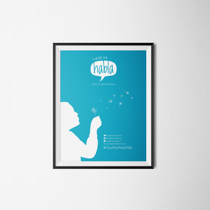 Piezas, Logo+afiche+imagen gráfica Fundación Habla 1