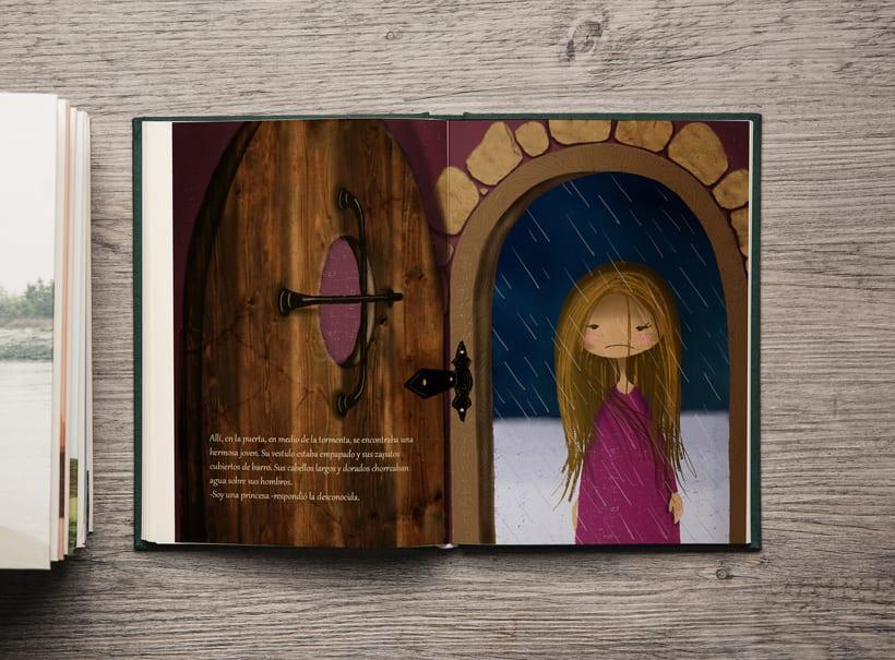 -La princesa y el guisante-  Mi Proyecto del curso: Introducción a la ilustración infantil 1