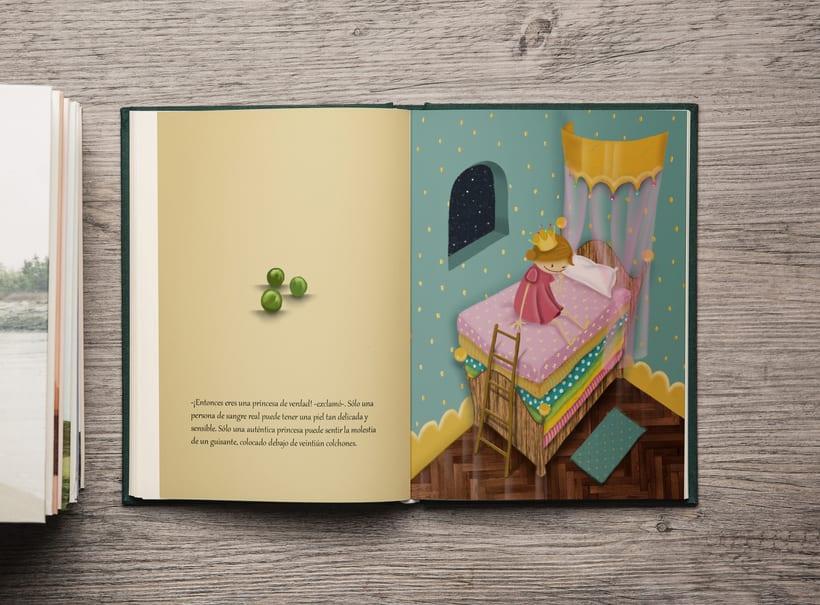 -La princesa y el guisante-  Mi Proyecto del curso: Introducción a la ilustración infantil 2