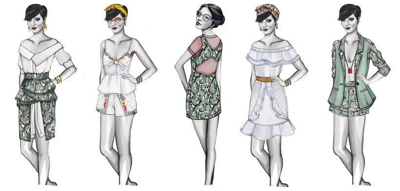 HIBISCUS- Propuesta de colección cápsula para Zara Woman SS2017 10