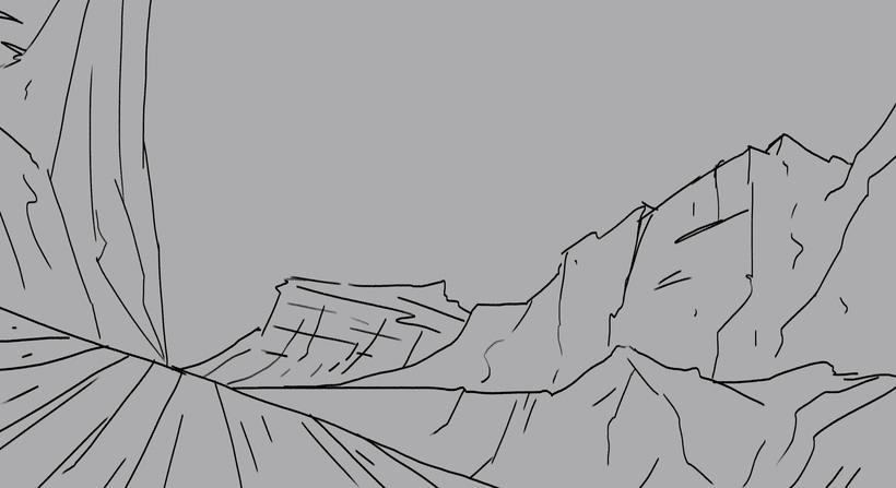 Paisaje concept art, proceso  -1