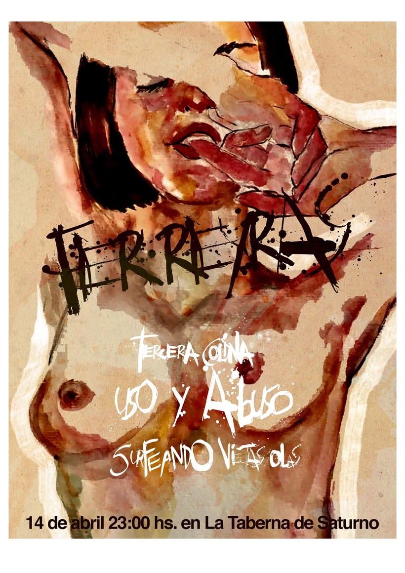 Afiche de concierto de la banda de rock Ferreyras 0