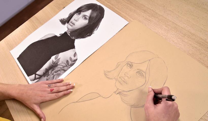 Proyecto del curso ilustración a pastel y lápices de colores 1