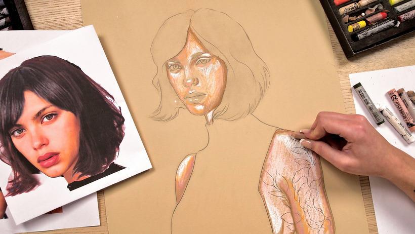 Proyecto del curso ilustración a pastel y lápices de colores 5