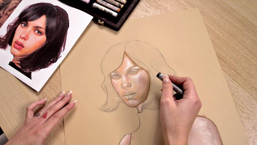 Proyecto del curso ilustración a pastel y lápices de colores 7