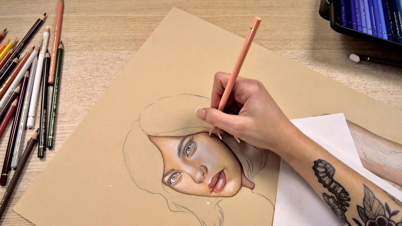 Proyecto del curso ilustración a pastel y lápices de colores 9