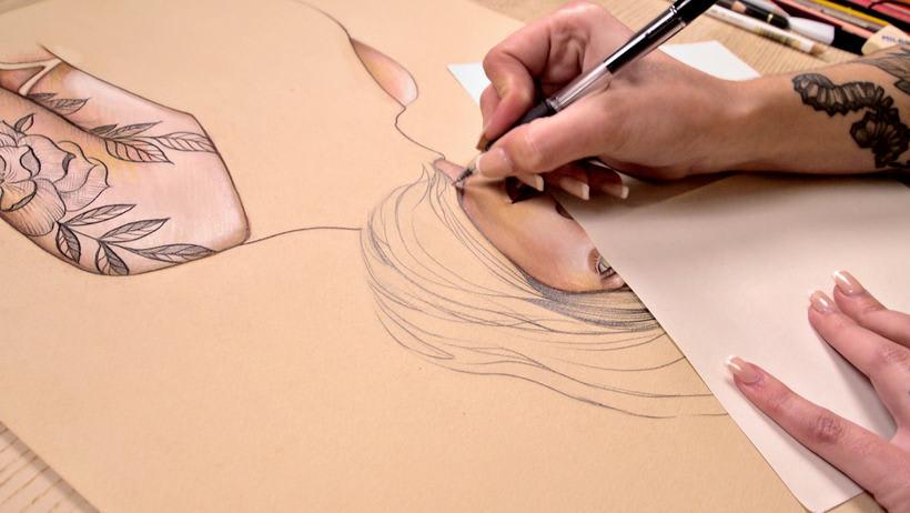 Proyecto del curso ilustración a pastel y lápices de colores 11