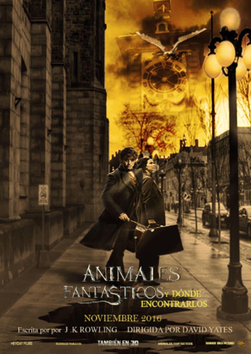 """Afiche publicitario para la pelicula """"Animales fantásticos"""" -1"""