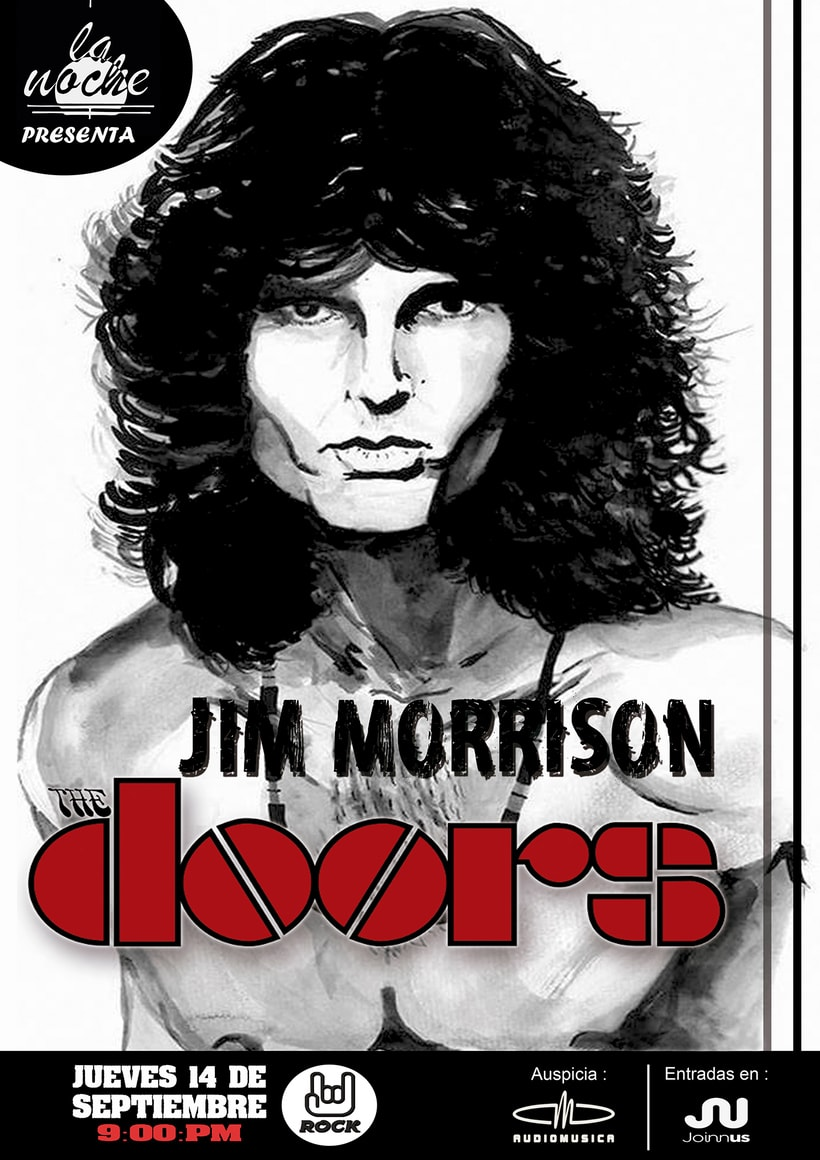 Afiche a tinta china de Jim Morrison -1