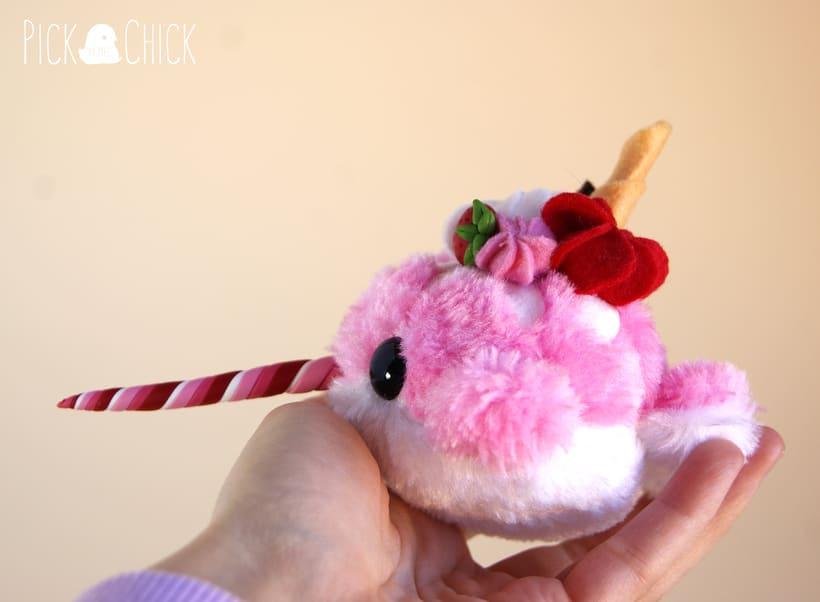 Candy Narwal ( Art toy Plush) 2