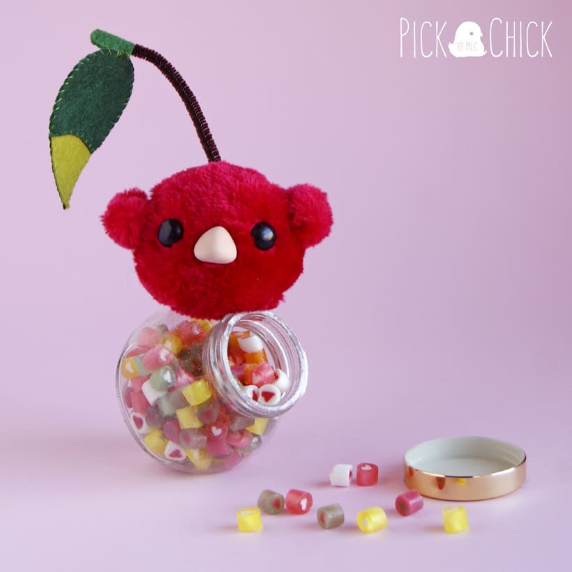 Cherry Bird (Art toy plush) -1