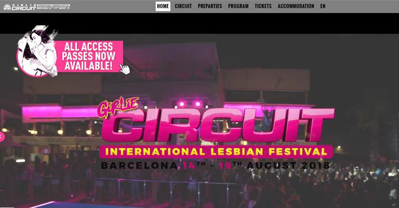 Creaccion pagina web para grandes Eventos - Circuit Festival Girlie 0