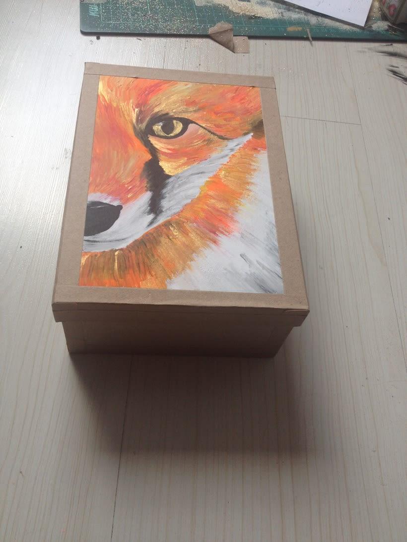 Cajas pintadas a mano para pastelería 0