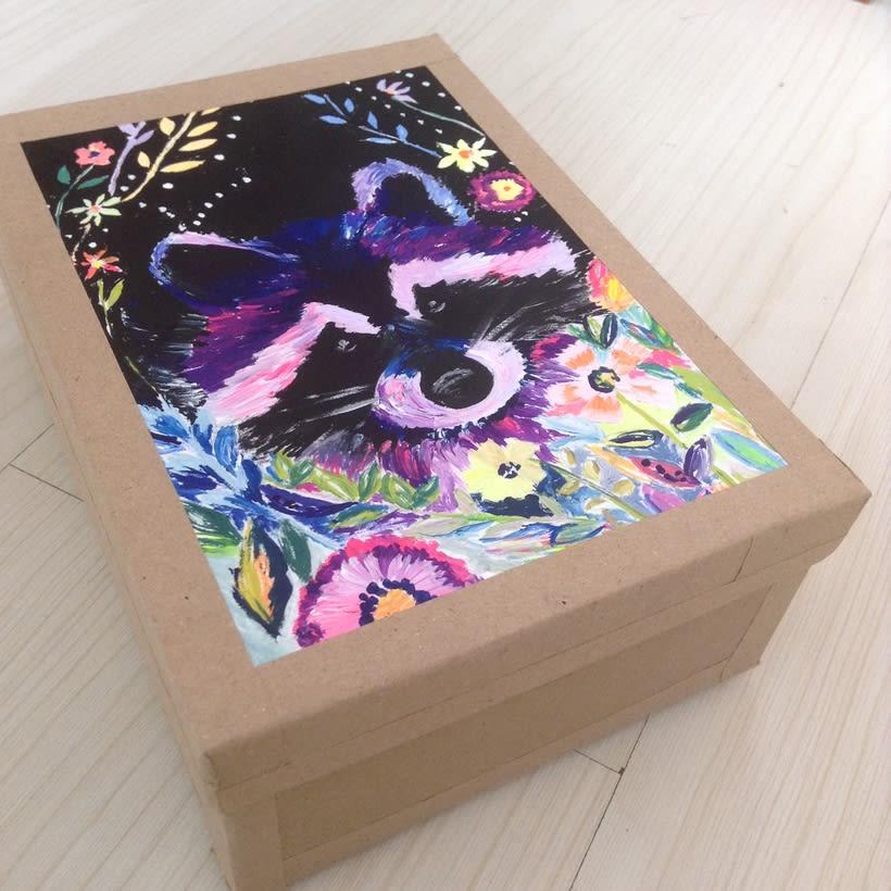 Cajas pintadas a mano para pastelería 1