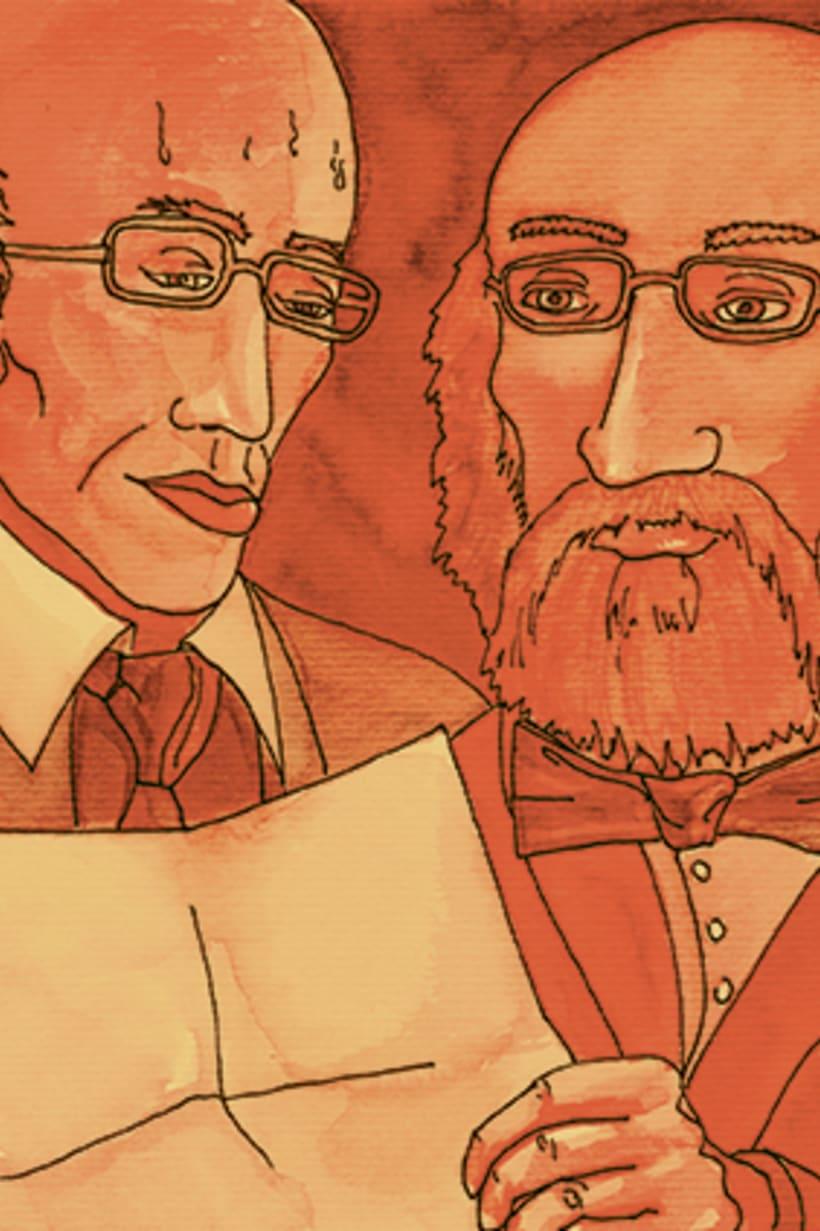 Còmic El fantasma de l'òpera. Anilina i tinta taronja. Monocromàtic. 1
