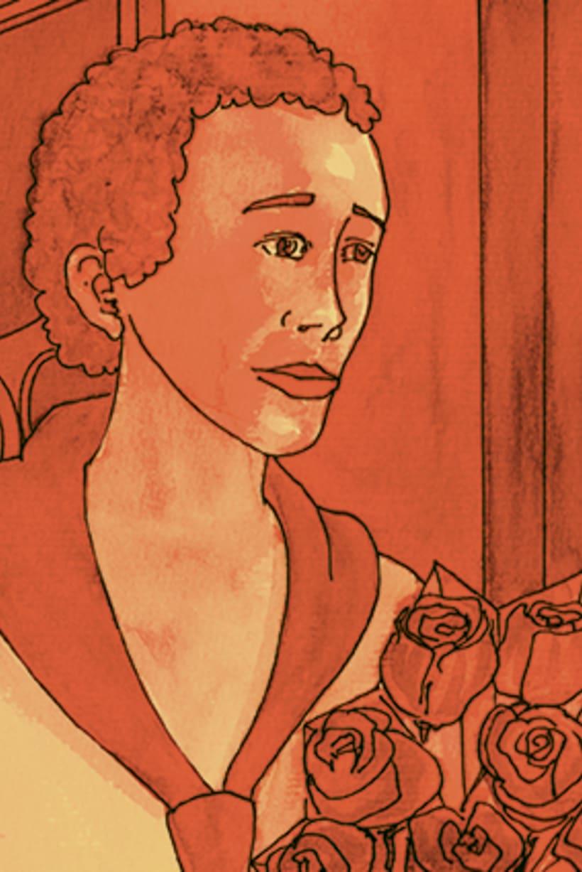 Còmic El fantasma de l'òpera. Anilina i tinta taronja. Monocromàtic. 3