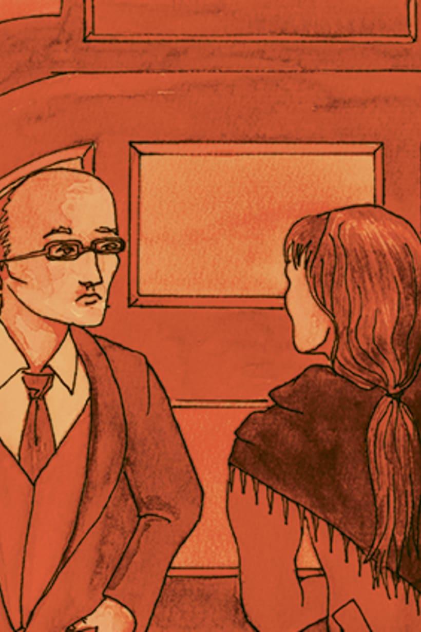 Còmic El fantasma de l'òpera. Anilina i tinta taronja. Monocromàtic. 4