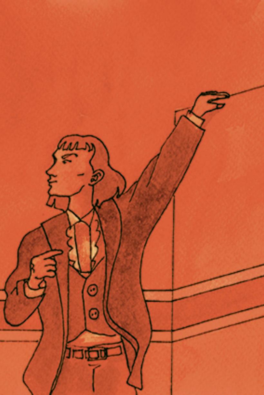 Còmic El fantasma de l'òpera. Anilina i tinta taronja. Monocromàtic. 6