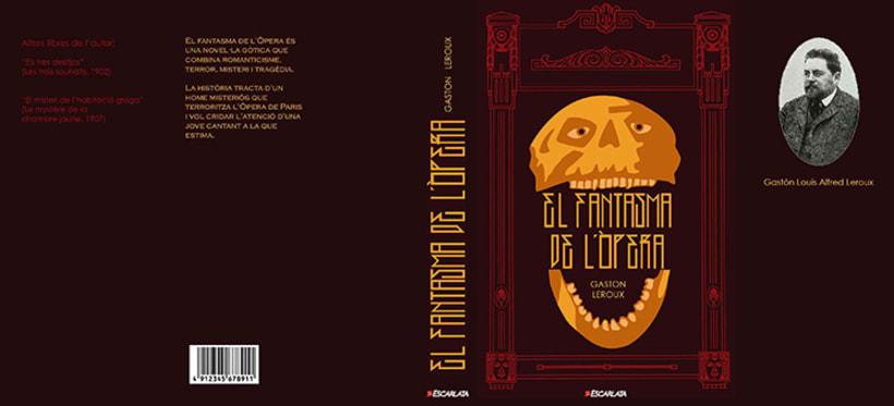 Còmic El fantasma de l'òpera. Anilina i tinta taronja. Monocromàtic. 9