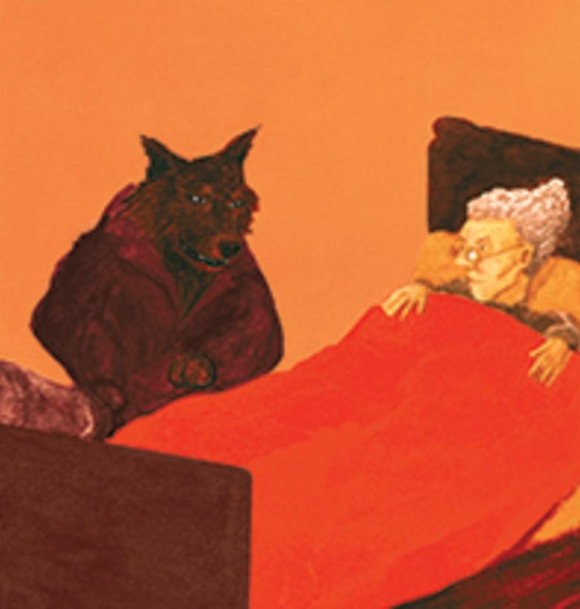 La caputxeta vermella. Conte infantil il·lustrat. Tècnica aquarel·la. 2