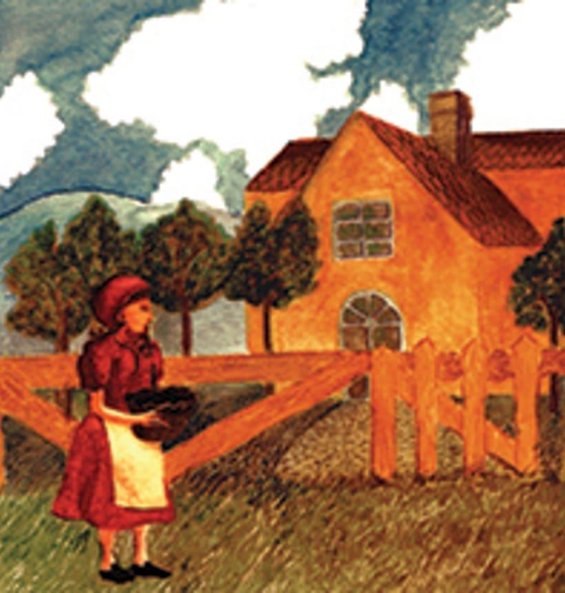 La caputxeta vermella. Conte infantil il·lustrat. Tècnica aquarel·la. 3