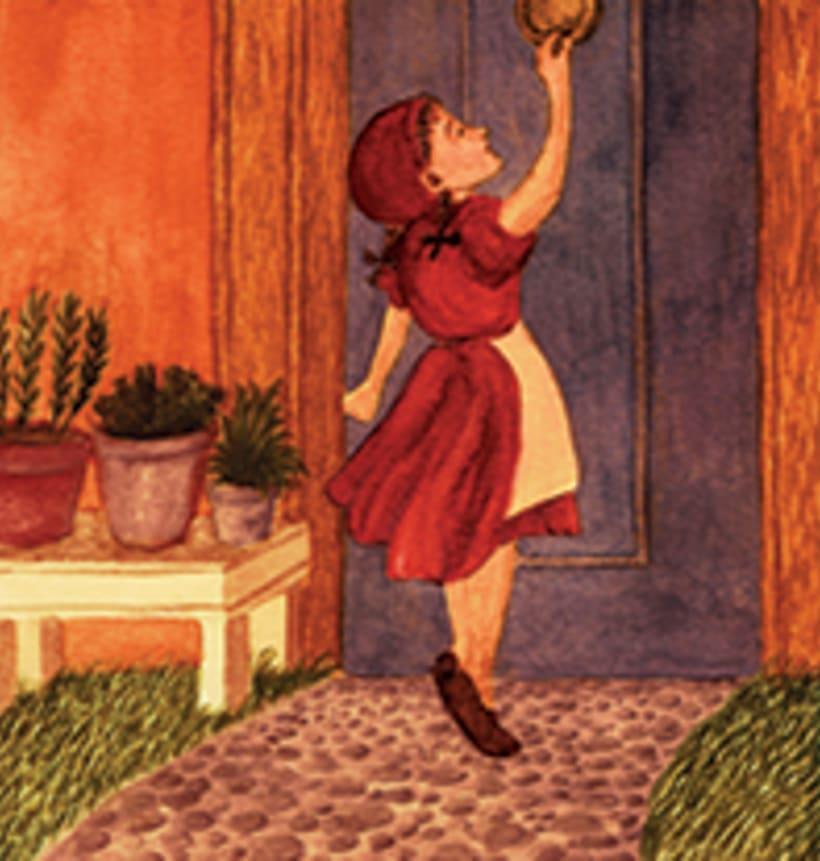 La caputxeta vermella. Conte infantil il·lustrat. Tècnica aquarel·la. 4