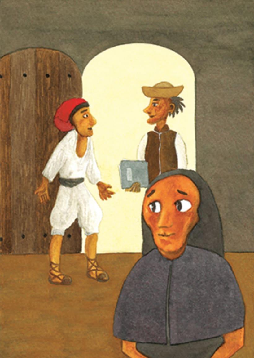 Pere Botero, il·lustració infantil. Tècnica aquarel·la. 0
