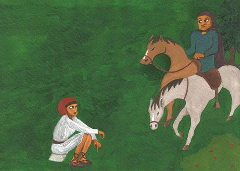 Pere Botero, il·lustració infantil. Tècnica aquarel·la. 1