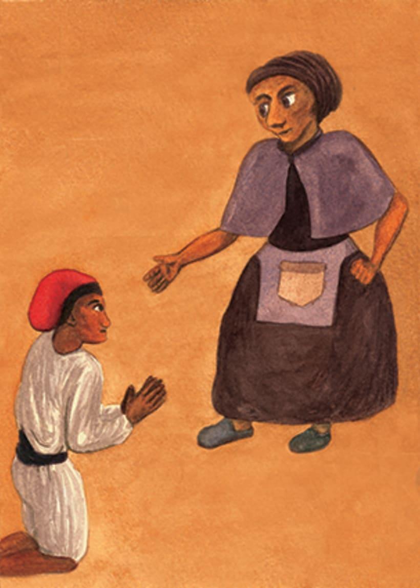Pere Botero, il·lustració infantil. Tècnica aquarel·la. 2