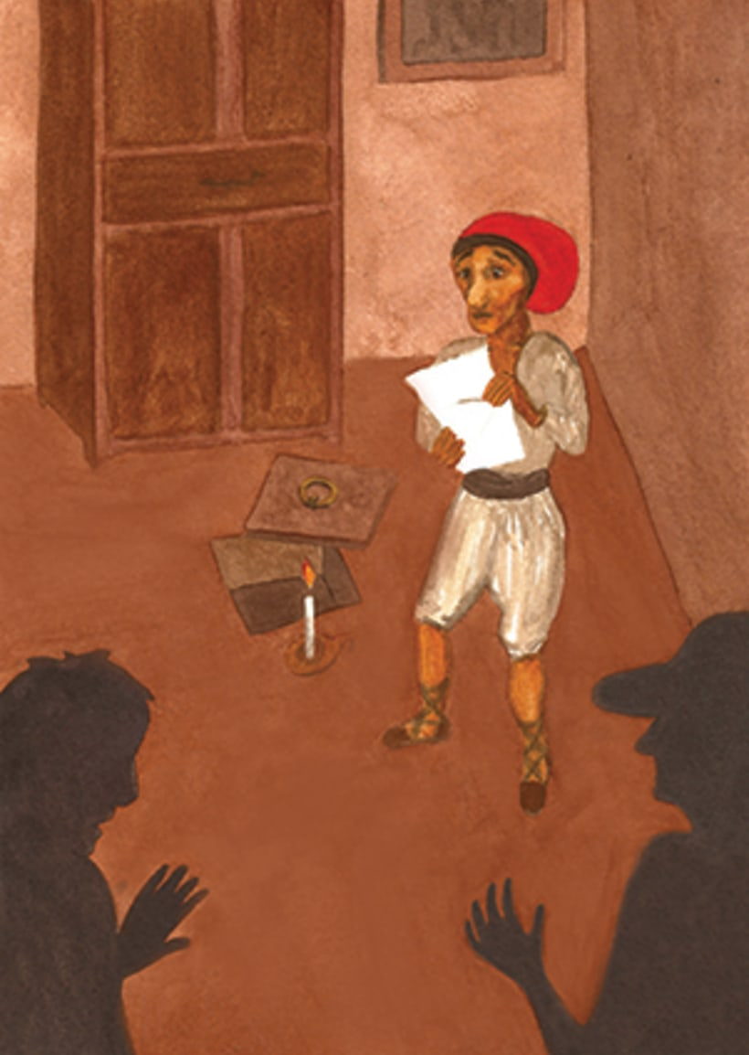 Pere Botero, il·lustració infantil. Tècnica aquarel·la. 3