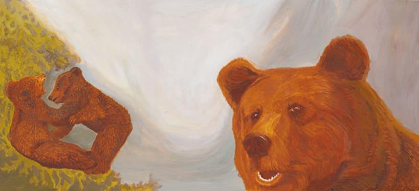Bernat l'ós. Il·lustració infantil. Tècnica acrílic.  0