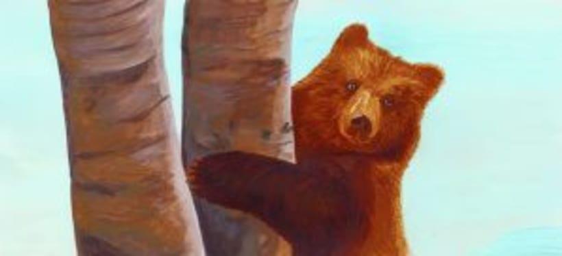 Bernat l'ós. Il·lustració infantil. Tècnica acrílic.  1