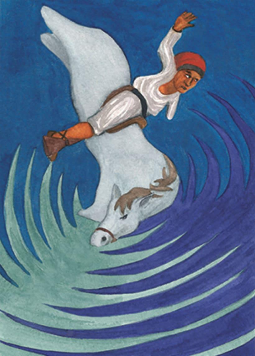 Pere Botero, il·lustració infantil. Tècnica aquarel·la. 5