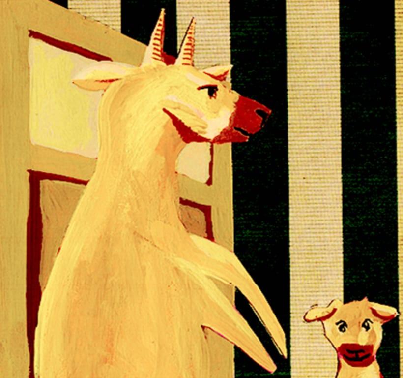 Les tres cabretes. Il·lustració infantil. Tècnica gouache. -1