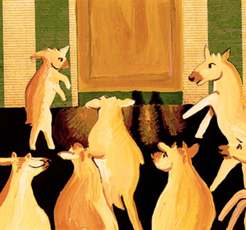 Les tres cabretes. Il·lustració infantil. Tècnica gouache. 0