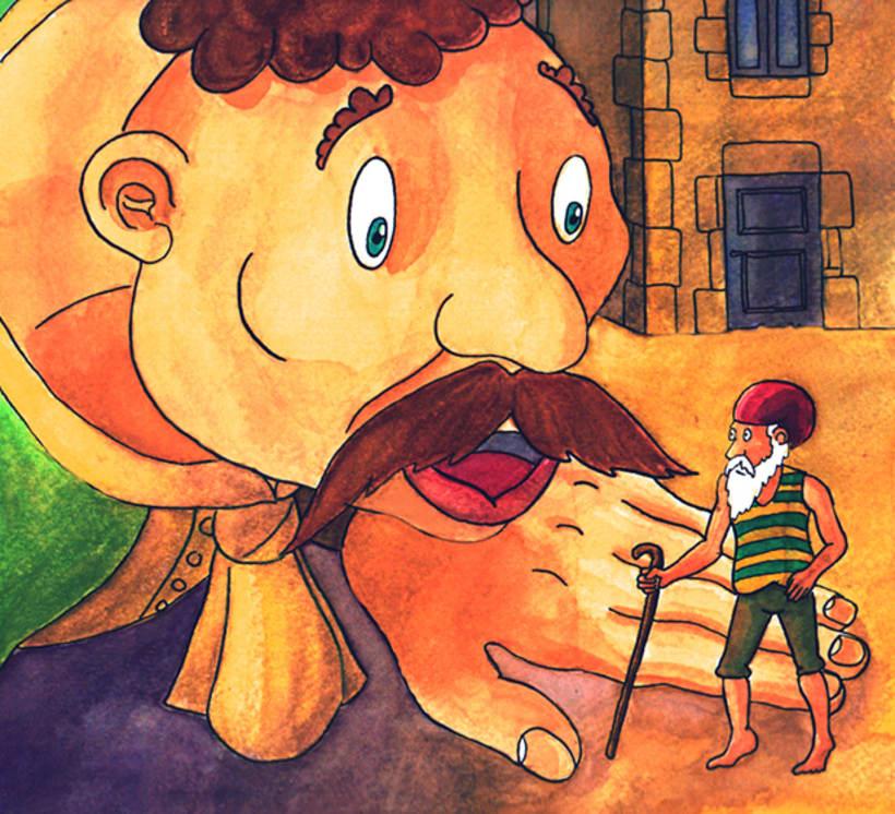 El gegant de Lapau. Il·lustració infantil. Tècnica aquarel·la. 0