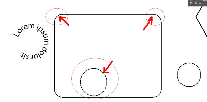 Ayuda con Adobe Ilustrator CC 2018. Problemas con los bordes redondeados de figuras básicas. 1