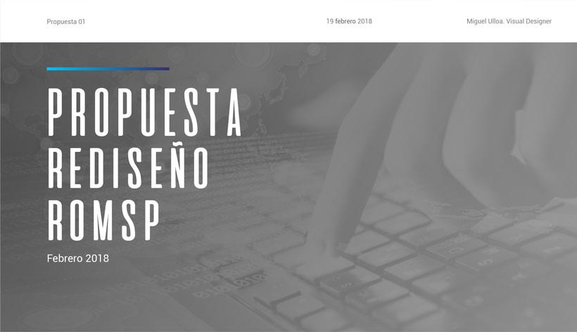 Rediseño de logo ROMSP 0